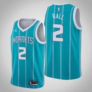 Men's Charlotte Hornets LaMelo Ball Blue Jerse
